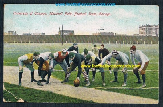 1900 postcard of Marshall Field, undivided back Stagg Field Chicago Uni football Maroons 1908